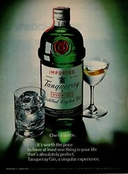 1975 Tanqueray Special Dry English Distilled Gin Own A Bottle Vintage Print Ad