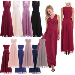 US Women Long Maxi Lace Evening Formal Party Cocktail Dress Bridesmaid Prom Gown $25.37