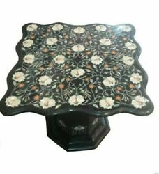 30 Marble Table Inlay Pietra Dura Art Handmade Work With 18 Marble Stand