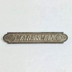 Wwii Marksman Pin Military Army Sharpshooter Rifle Collectable Vintage