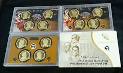 4 Us Presidential Proof Sets- 2008,2010,2011,and 2016 No Ogp Except 2016 9073