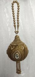 Traditional Hand Clutch Wedding Golden Silver Embroidered Pot Shape $68.00