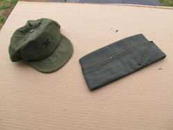 Us Army Colonel Field Cap Og And Officer's Garrison Overseas Cap -military-named