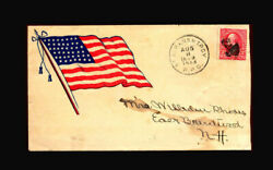 Us Stamp Used, F/vf S267 Spanish American War Patriotic Cover, Postmarked 1898