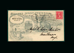 Us Stamp Used Vf S267 1898 Reading Pa Beautiful Cachet