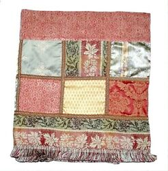 EUC JC Penney Home Collection quot;Chateau Regal Blockquot; Patchwork Tapestry Valance