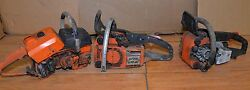 3 Chainsaws 2 Stihl Vintage Collectible Parts Or Repair Lot Arborist Small Saws