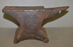 Antique William Foster 1833 Anvil 115 Lb Collectible Blacksmith Tool Early Rare