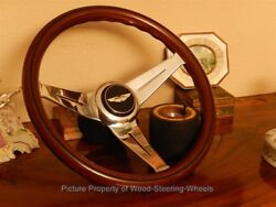 Aston Martin V8 Vantage Nardi Wood Steering Wheel Deep Dish Hub Boss Horn Push