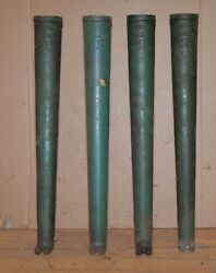 4 Cast Iron Antique Rope Machine Legs New England Butt Co Industrial Table Stand
