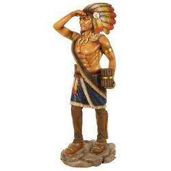 Design Toscano Life-size Cigar Store Indian Tobacconist Statue