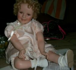13 Porcelain Little Miss Shirley Temple Girl Doll 1946 Danbury Mint And Box
