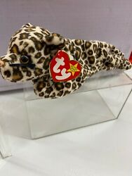 Extremely Rare Freckles Ty Beanie Baby W/ Andldquostripesandrdquo Tush Tag One Of A Kind