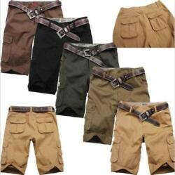 Mens Cotton Hobo Relaxed Fit Cargo Shorts Summer Cool Short Pants Hot Sale 0317