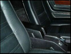 1968 C3 Parkingbrake Console With Convenience Pocket With Arm Rest Pad Dark Blue