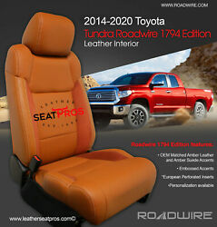 Roadwire Leather Seat Covers 14-21 Tundra Crewmax Double Cab 1794 Edition Amber