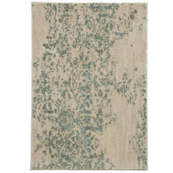 Karastan White Distressed Faded Vintage Contemporary Area Rug Floral 90953 60128