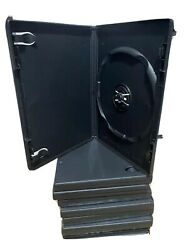 10 New DVD Media Cases Black 14mm Single Disc w Art Clips free shipping $8.90