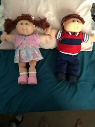 Vintage 1983 Cabbage Patch Dolls Xavier Roberts Rare Red Hair Girl And Boy