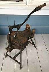 Antique 19th Century French Bordeaux Bellows Hand Pump Wine Bottle Air Cleaner