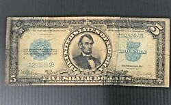 1923 Circulated Large Five Dollar 5 Porthole Silver Certificate