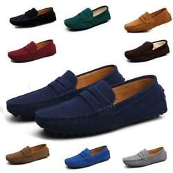 Men Casual Minimalism Driving Loafers Suede Moccasins Slip On Shoes Wholesale Ne