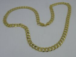 9ct Yellow Gold Curb Link Neck Chain Necklace. 20 Curb Chain Hallmarked