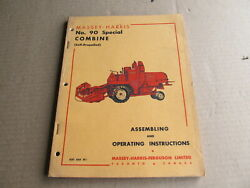 1955 Massey-harris No 90 Special Combine Assembling And Operating Instruction Book