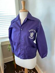 Vintage K-state Marching Band Jacket - Purple Snap-up Youth M