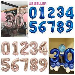 32quot; Navy Pink Digital Number Balloons Large Big Foil Mylar For Birthday Party $3.97