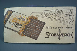 Antique Stollwerk Raw Cocoa Writing Chocolate Presse-papier Ad Paper Ink Blotter