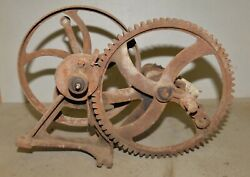 Antique Kj Well Pump Flywheel Patent Oct 21 1924 Hit And Miss Engine Collectible