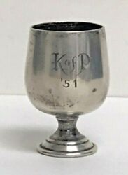 K O P 1951 Sterling Silver Mini Cup New Orleans Mardi Gras Krewe Favor Mgs76