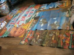 Set Pineapple Vintage Original Poster Libby's Hawaiian Week Kit Posters And Cards