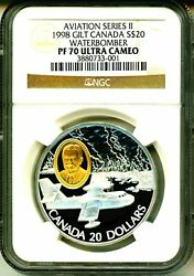 1998 Canada S20 Gilt Aviation Series Ii Cl-215 Waterbomber Ngc Pf70 Ultra Cameo