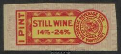 LOUISIANA Wine Revenue LA W39 mint VF