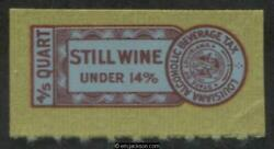 LOUISIANA Wine Revenue LA W46 mint VF