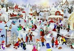 Snowman Festival By Bits And Pieces 500 Piece Puzzles 18 X 24 Tuula Burger Art