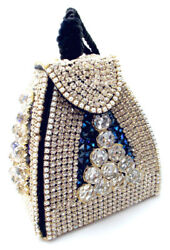 IRIS G Magnificent Austrian Crystal Rhinestone Designer Evening Bag Purse-OOAK $1,148.00