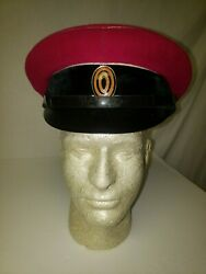 R25a-30 Ww1 Imperial Russian Army Officers Visor Hat Red Wool Size 60