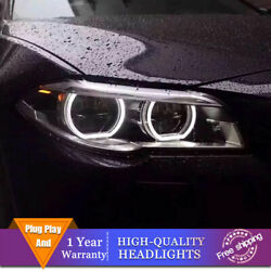 For Bmw 5 Series F18 F10 Headlights Double Lens Beam Projector Led Drl 2011-2017