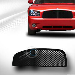 Fits 05/06-10 Dodge Charger Glossy Blk Mesh Front Hood Bumper Grill Grille Guard