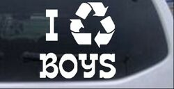 I Recycle Boys Car Or Truck Window Laptop Decal Sticker 10x10.0