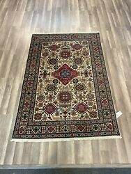 On Sale S.antique Beautiful Vintage Hand Knotted Area Rug Carpet 4andrsquo4andrdquox6andrsquo4andrdquo724