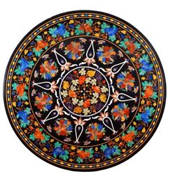 48 Round Marble Center Dining Table Top Inlay Pietra Dura Home Decor