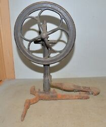 Antique Sewing Machine Lathe Treadle Base And Foot Pedal Collectible Drive Tool