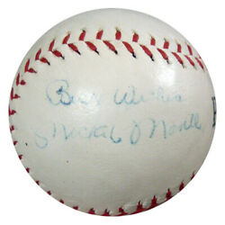 Mickey Mantle Authentic Autographed Baseball 1950and039s Best Wishes Psa Q07806