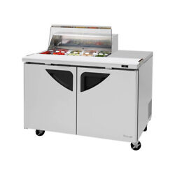 Turbo Air Tst-48sd-08s-n-cl 48 Two Section Sandwich / Salad Prep Table, 15.0...