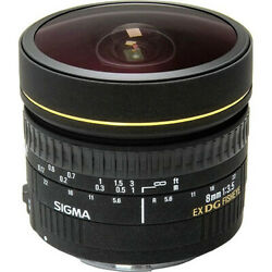 Sigma 8mm F3.5 Ex Dg Circ Fish Eye Lens F Canon Camera New In Factory Box And Case