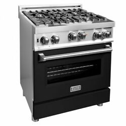 Zline 30 Professional Stainless Steel 4.0 Cf. 4 Gas On Gas Oven Range Rg-blm-30
